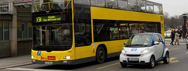 BVG und car2go unterwegs