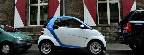 car2go in Parklücke