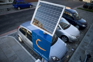 Cambio Station mit Solarpanel
