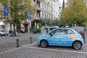 Carsharing-Parkplatz von Stadtmobil