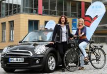 Fahrzeug und Fahrrad von AIDA