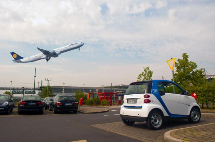 car2go am Flughafen Düsseldorf