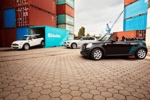 DriveNow Flotte in Hamburg