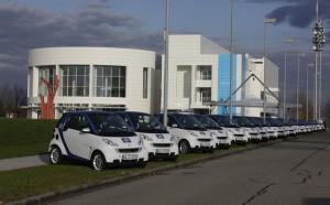Start von car2go am Daimler Standort Ulm vor 5 Jahren