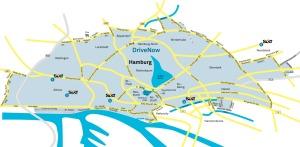 Drive Now Geschäftsgebiet Hamburg