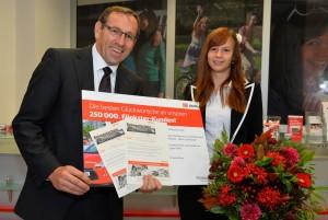"""250.000ste Kunde bei """"Flinkster – Mein Carsharing"""" in Berlin"""