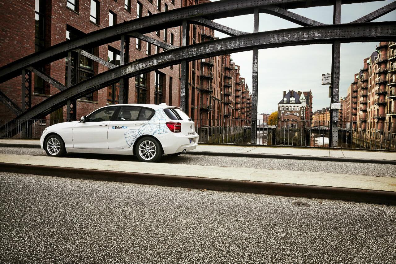 DriveNow BMW 1er in der Speicherstadt