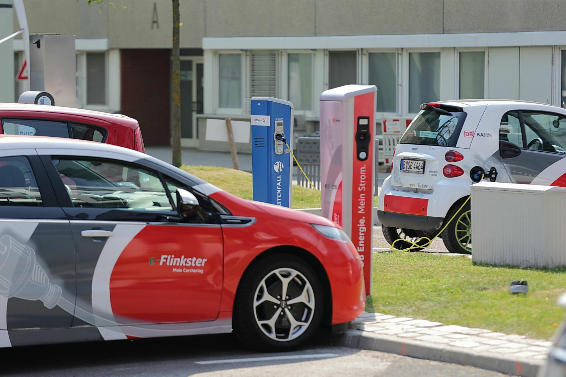 Elektrofahrzeuge von Flinkster