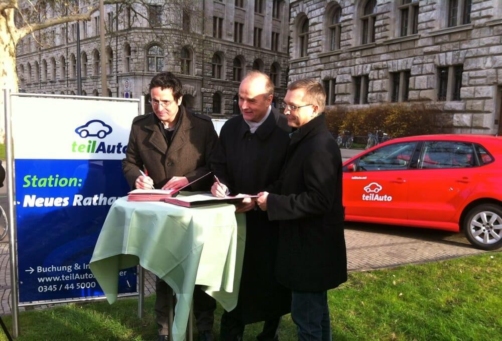 Stadt Leipzig unterzeichnet Vertrag zur Carsharing-Nutzung