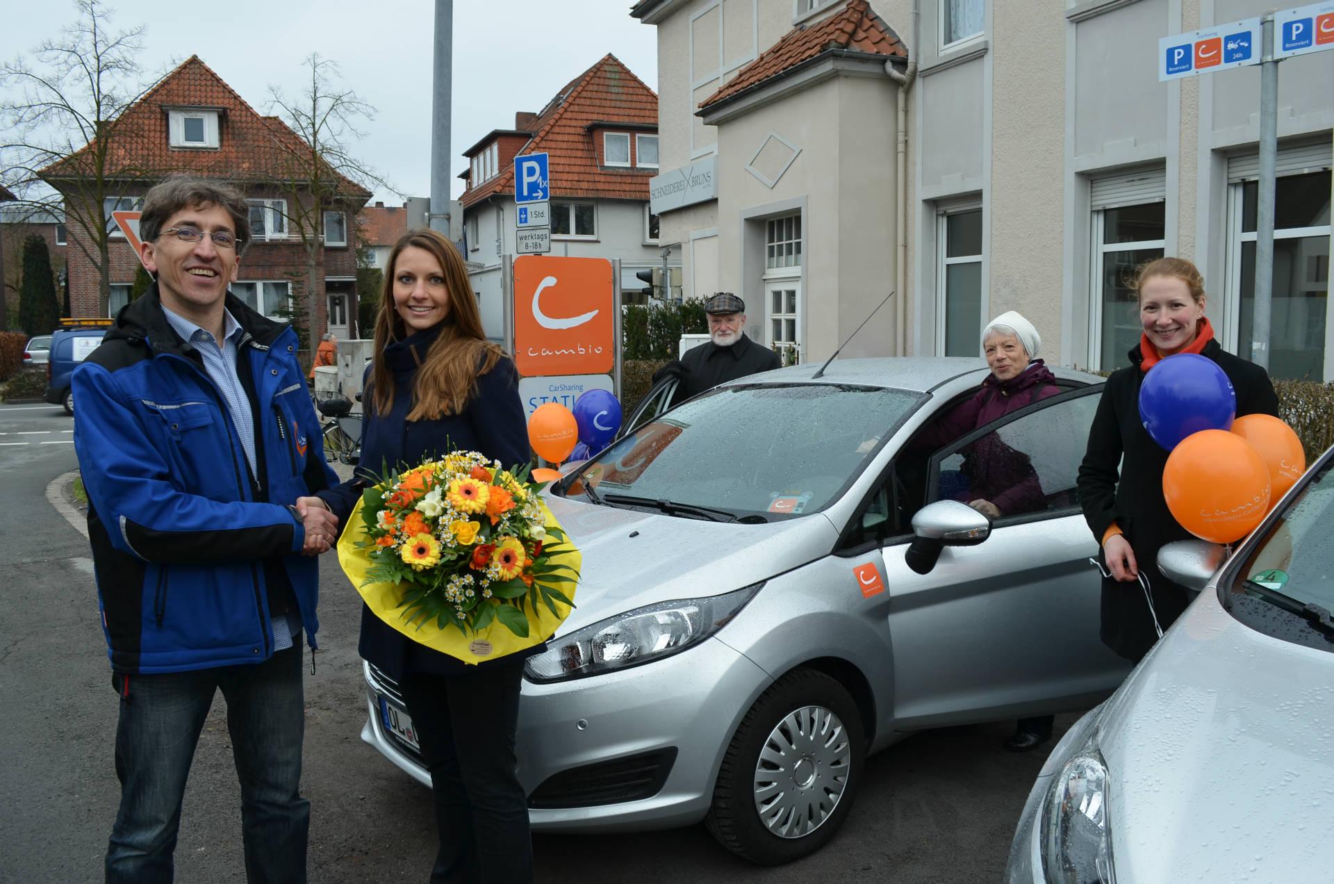 cambio Oldenburg begrüßt den 1.000 Kunden