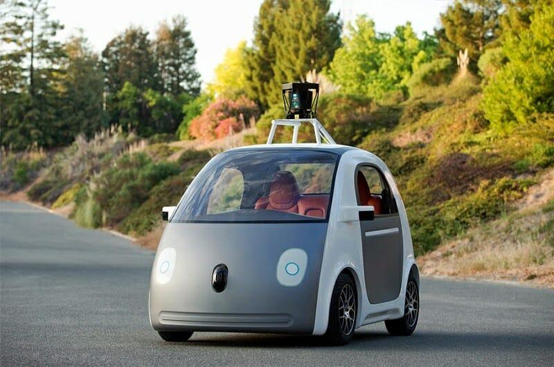 Der erste Prototyp von Googles Auto © Google
