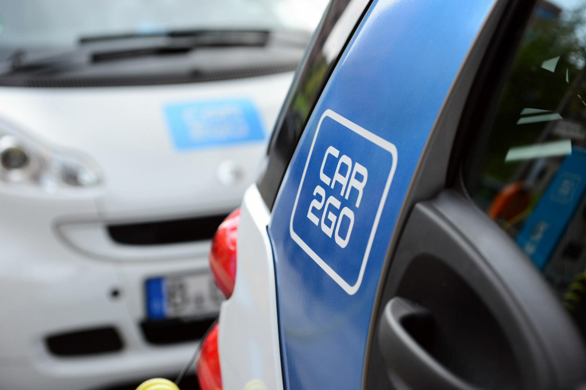 car2go Logo auf einem Smart