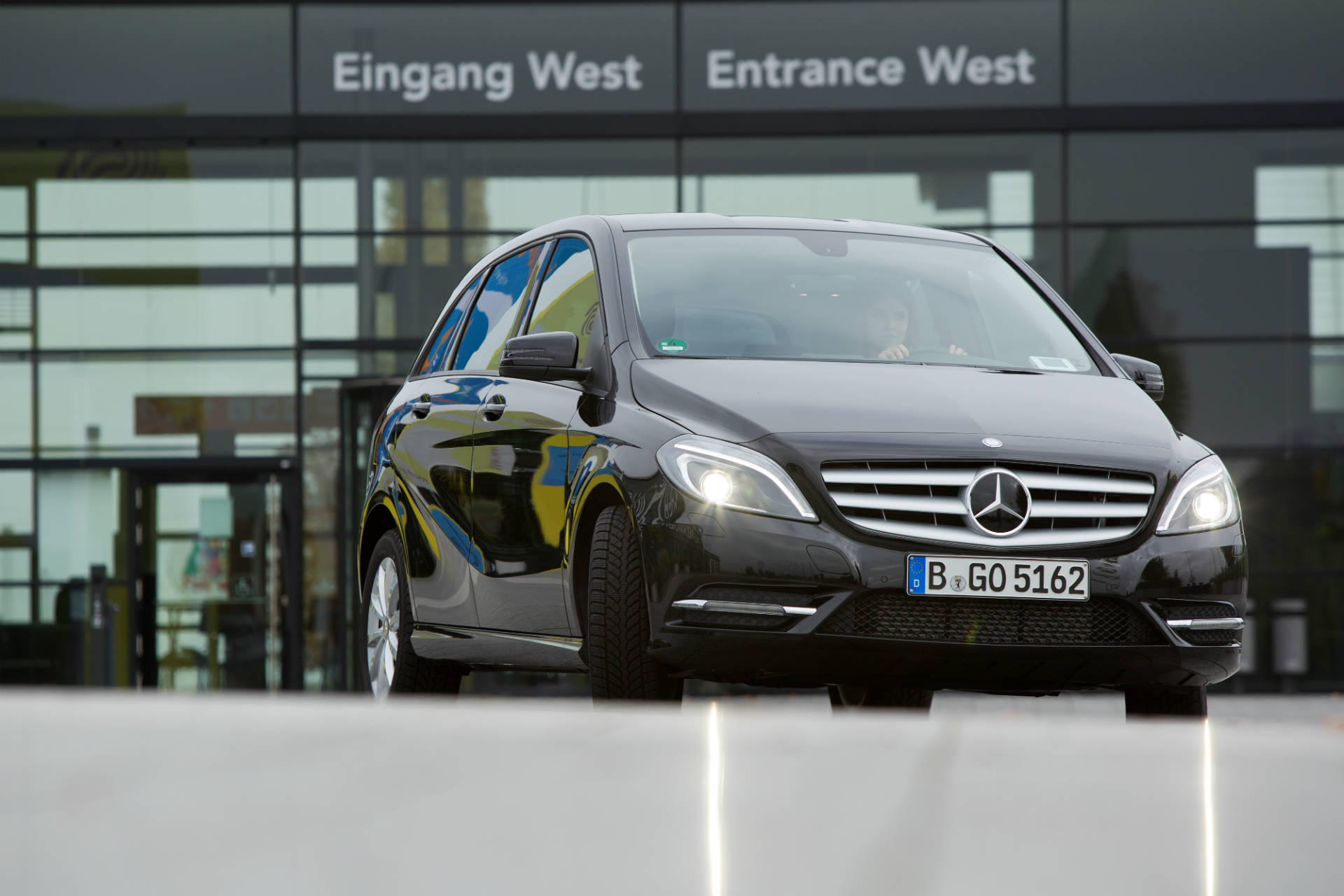 car2go black am Flughafen Stuttgart