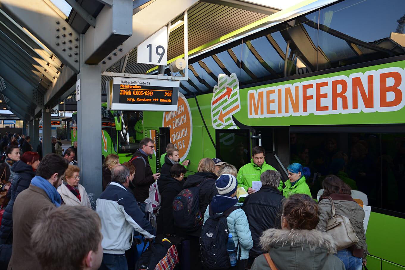 Bus von MeinFernbus am Rekordwochenende © MeinFernbus
