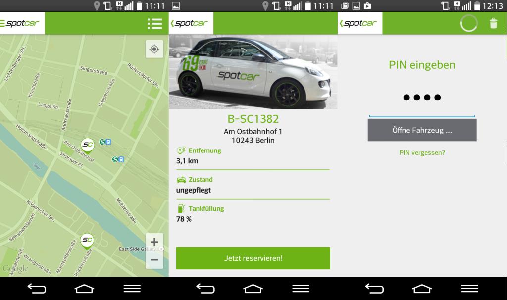 Bilder aus der Spotcar App