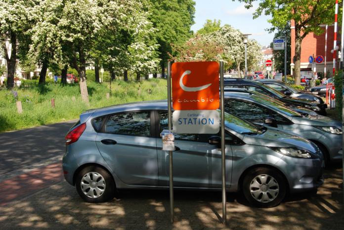 cambio-Station CÄCILIE im Oldenburger Stadtkern