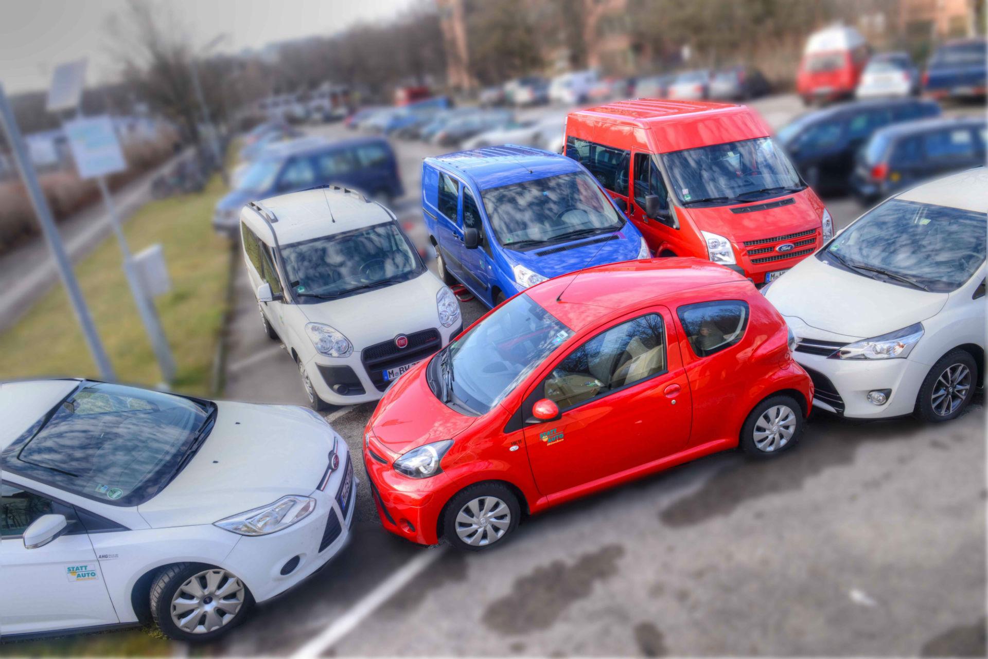 Fahrzeuge aus der Flotte von STATTAUTO München