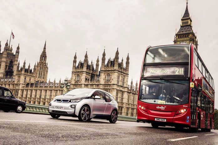 BMW i3 von DriveNow in London