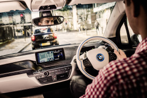 BMW i3 von DriveNow in London Innenansicht