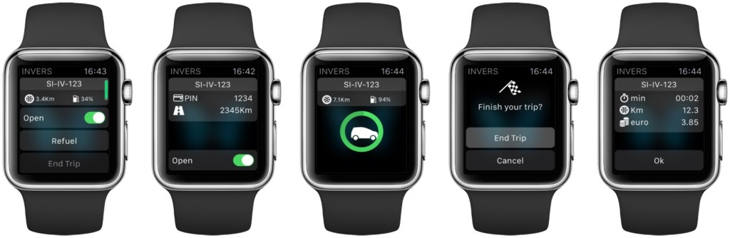 INVERS App für AppleWatch