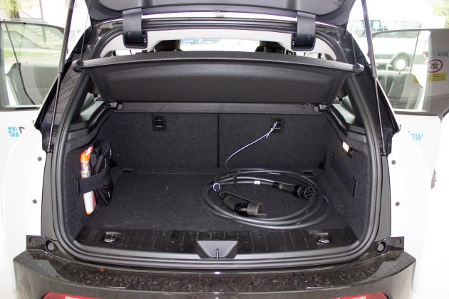 BMW i3 von DriveNow Kofferraum