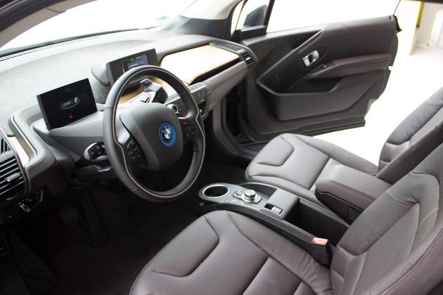 BMW i3 von DriveNow Innenraum vorne