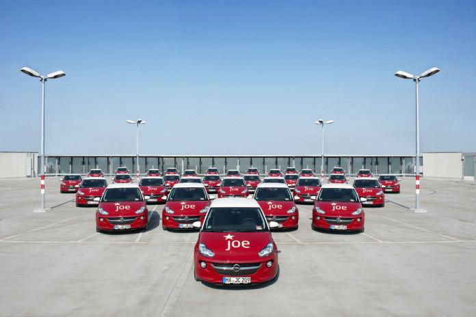 Ein Teil der Flotte von JoeCar