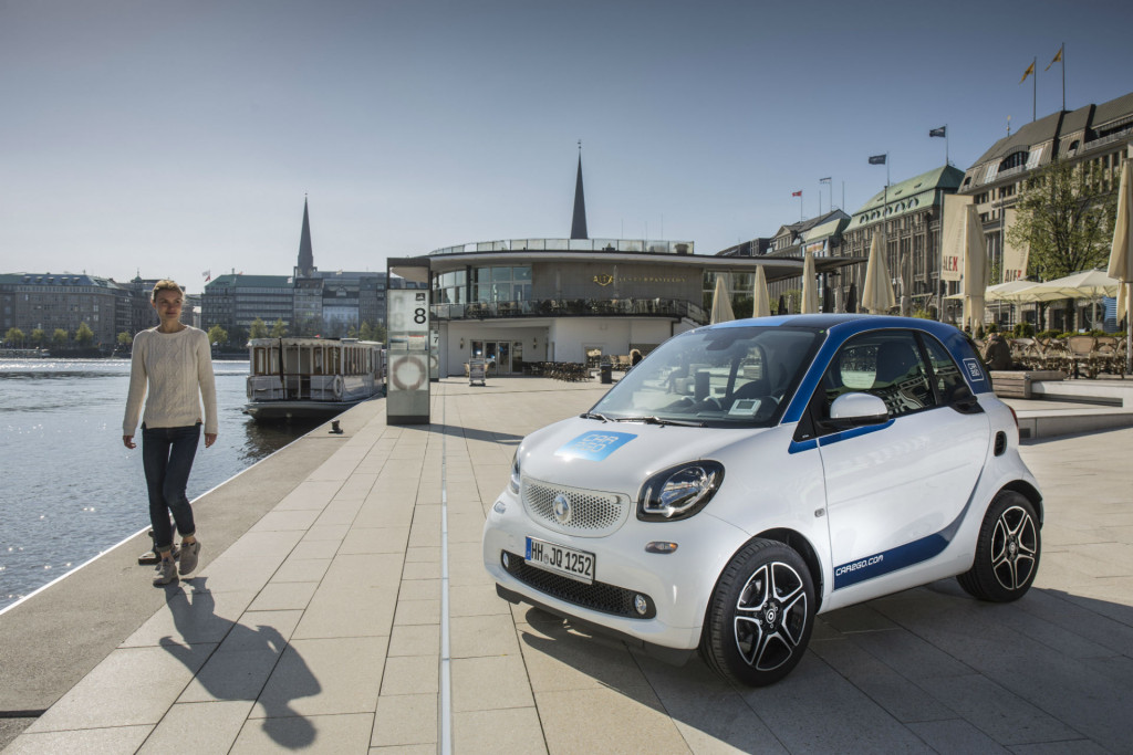 Neuer Smart von car2go in Hamburg