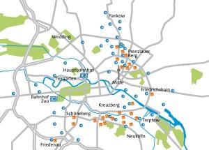 Stationen von Cambio und Stadtmobil in Berlin