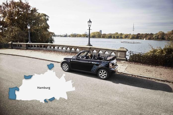 DriveNow Erweiterung Geschäftsgebiet Hamburg