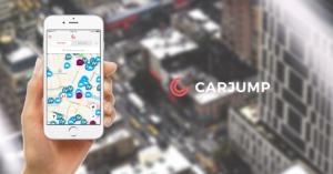 Carjump App und Logo Montage