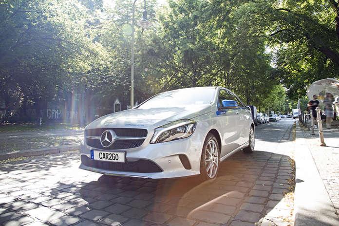Mercedes-Benz in der Flotte von car2go