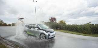 Fahrzeug von swa Carsharing beim Fahrsicherheitstraining