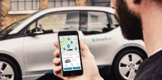 DriveNow App und ein BMW i3