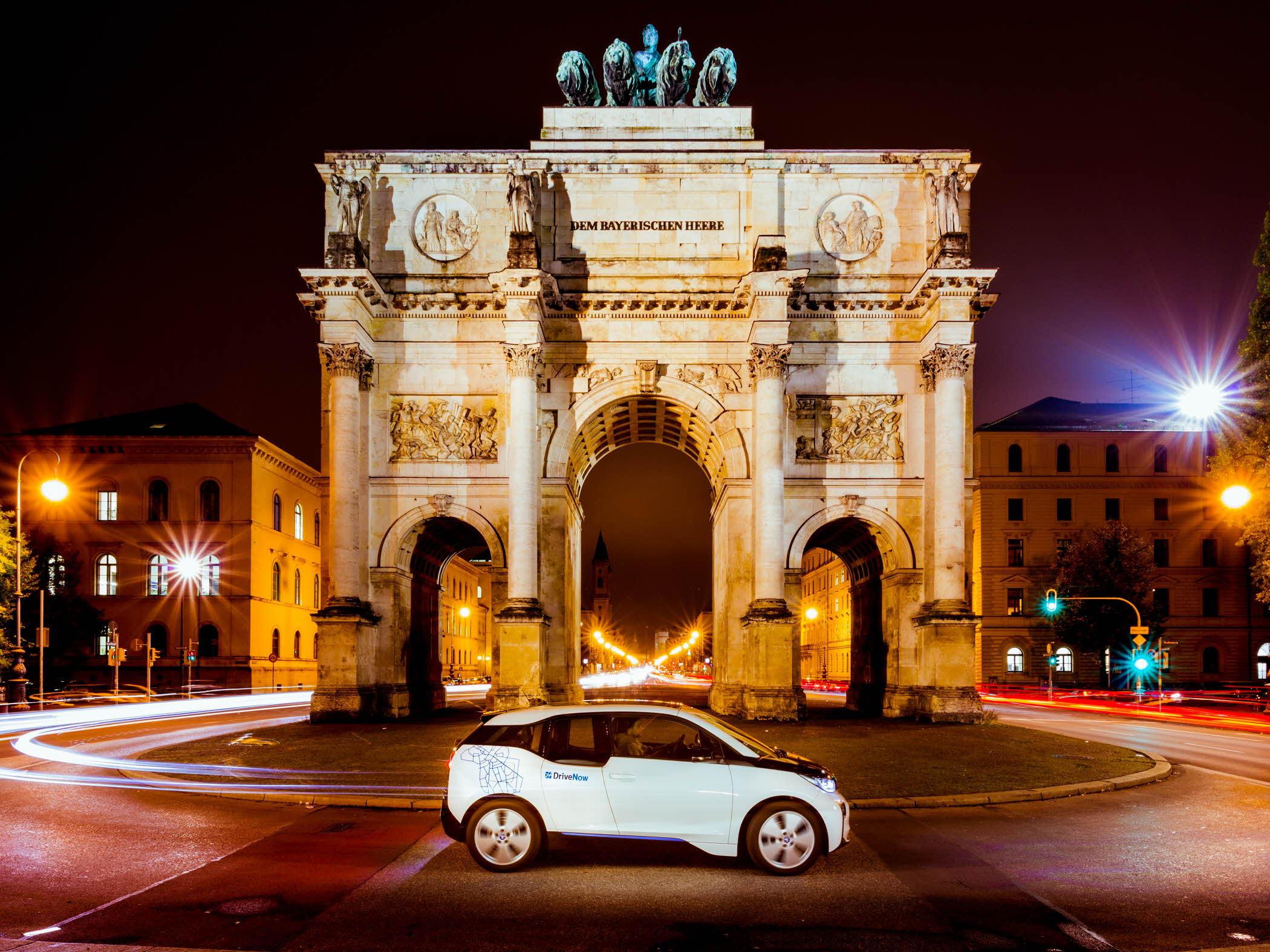 DriveNow BMW i3 in München