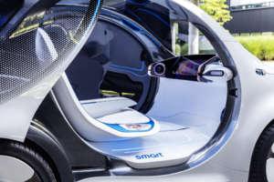 Autonomes Konzeptfahrzeug smart vision EQ fortwo