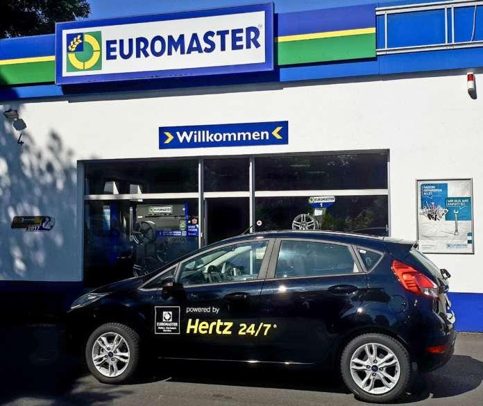 Hertz 24/7 Carsharing an EUROMASTER Standorten