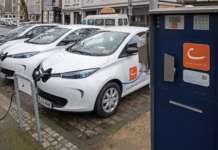 Renault Zoe von Cambio werden aufgeladen
