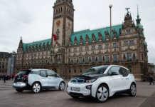 BMW i3 von DriveNow in Hamburg
