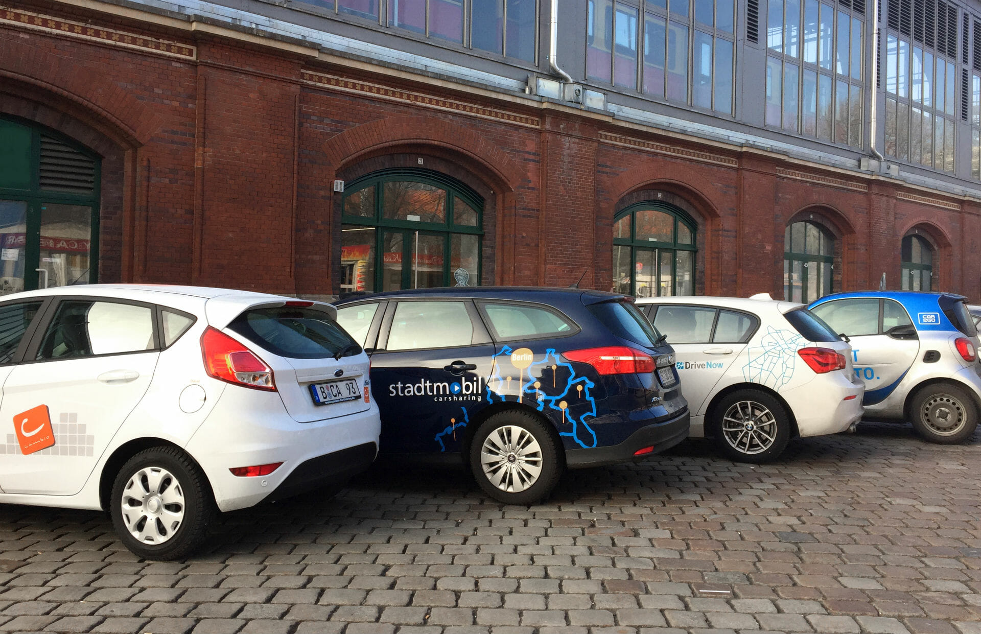 Fahrzeuge der größten Carsharing Anbieter in Deutschland