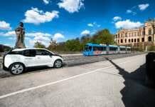 BMW i3 von DriveNow Carsharing
