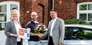 Willkommens-Blumenstrauß für den 15.000. Kunden