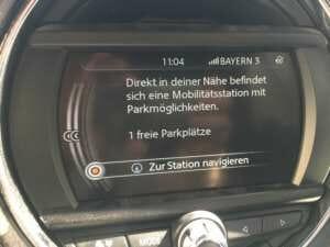 Anzeige von Parkplatzinformation bei DriveNow