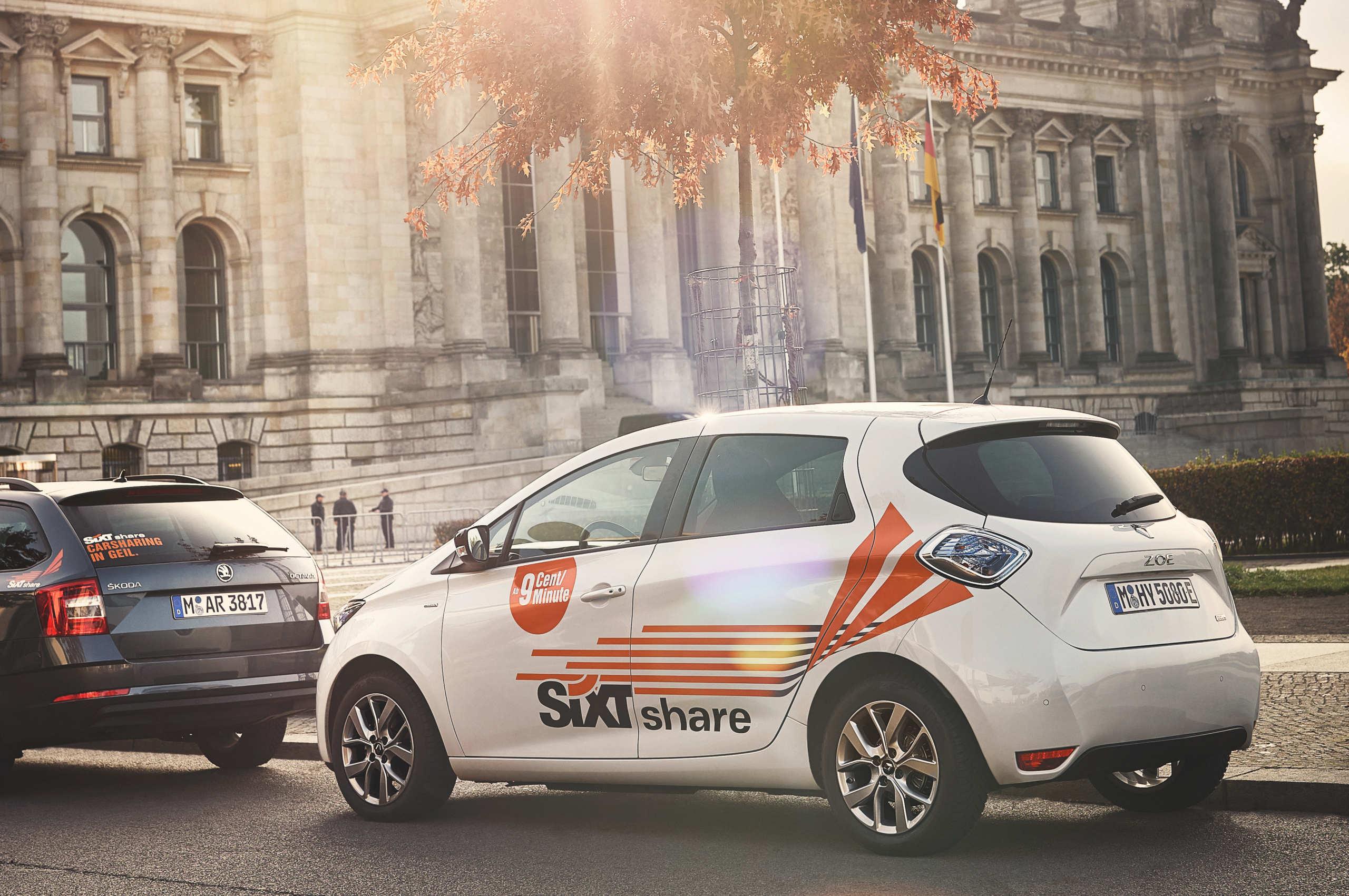 SIXT Share Elektrofahrzeug